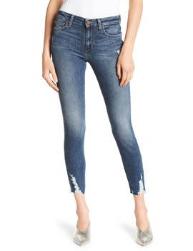 Icon Ankle Destructed Hem Skinny Jeans by Joe's Jeans