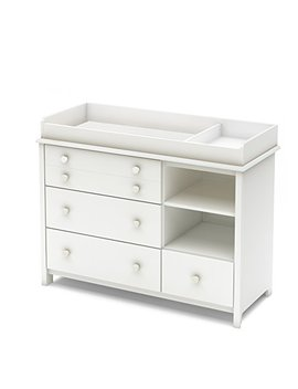 South Shore Convertible Changing Table With Storage Drawers And Removable Changing Station, Pure White by South Shore