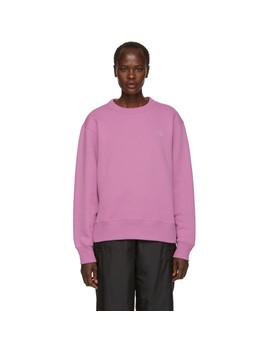 Purple Fairview Face Sweatshirt by Acne Studios