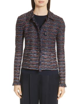 Ombré Ribbon Knit Jacket by St. John Collection