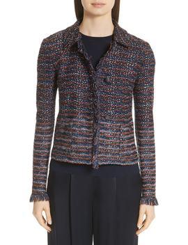 Ombré Ribbon Knit Jacket by St. John Collection