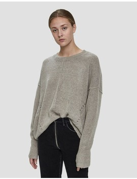 Marti Speckled Oversized Sweater In Grey by Which We Want