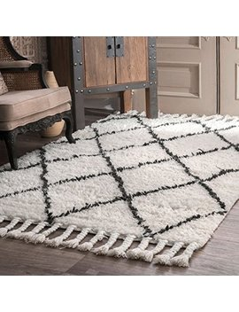 Nu Loom Venice Collection 100 Percent Wool Area Rug, 4' X 6', Moroccan, Natural by Nu Loom