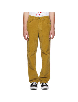 Yellow Corduroy Blackburn Trousers by Napa By Martine Rose