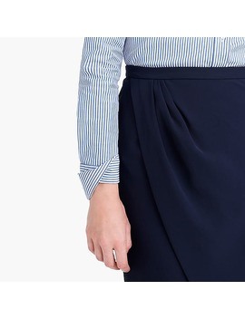 Asymmetrical Pencil Skirt In Japanese Cupro by J.Crew
