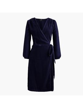 Petite Wrap Dress In Drapey Velvet by J.Crew