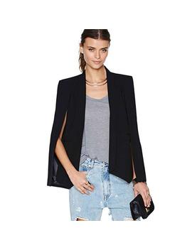 Us Women Lapel Split Long Sleeve Blazer Cape Coat Ol Suit Jacket Outwear Tops by Ebay Seller