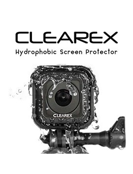 Clearex Hydrophobic Screen Protector For Go Pro Session, 5 & 4 By Clearex | Water Repellent, Tempered Glass, Ultra Clear, Anti Scratch | Capture Clearly by Axion