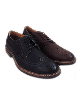 New Fashion Mens Lace Up Wingtip Oxfords Casual Leather Lined Dress Shoes by Ferro Aldo