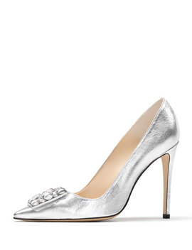 Otto Embellished Metallic Leather Pumps by Paul Andrew