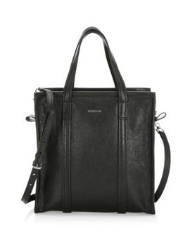 Bazar Arena Leather Satchel by Balenciaga