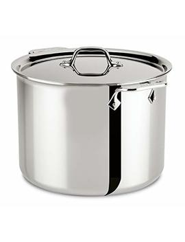 All Clad 4512 Stainless Steel Tri Ply Bonded Dishwasher Safe Stockpot With Lid / Cookware, 12 Quart, Silver by All Clad