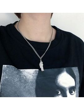 Pangu   Stainless Steel Human Figure Pendant Necklace by Pangu