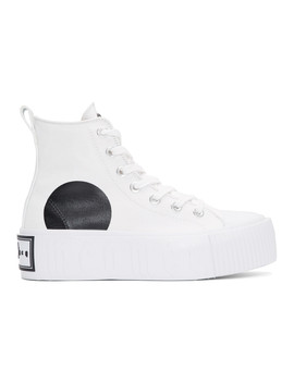 White High Top Platform Sneakers by Mcq Alexander Mcqueen