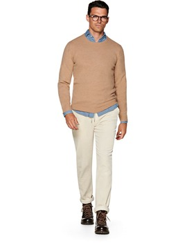 Camel Crewneck by Suitsupply