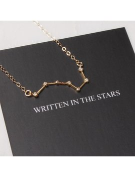 Scorpio Constellation Necklace   14k Gold Filled Constellation Necklace With Mythology Card Included   Dainty Birthday Pendant For Her by Etsy