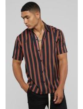 Julian Short Sleeve Woven Top   Black/Combo by Fashion Nova