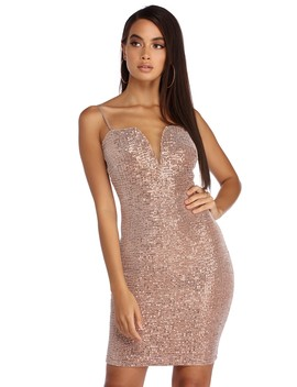 Light Up The Night Sequin Dress by Windsor