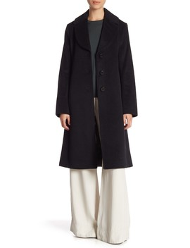 Front Button Solid Coat by Cole Haan