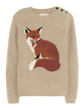 Portland Fox Intarsia Wool Sweater by Aubin & Wills