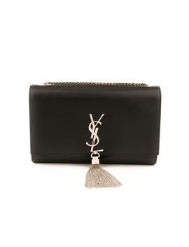 Kate Monogram Ysl Tassel Chain Bag   Black / Silver by Saint Laurent