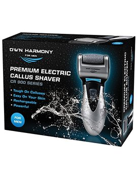 Callus Remover: Electric Rechargeable Pedicure Tools For Men By Own Harmony  3 Rollers (Tested Powerful) Best Foot File, Professional Spa Electronic... by Own Harmony