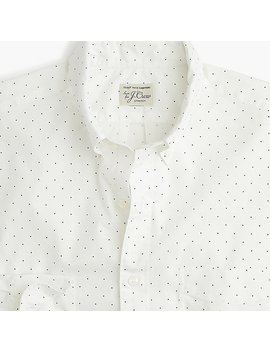 Slim Stretch Secret Wash Shirt In Medium Dot Print by J.Crew