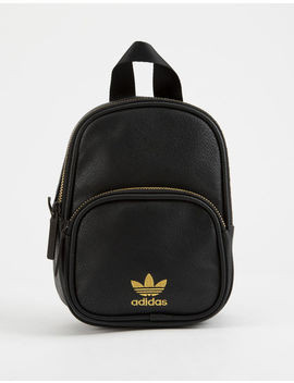 Adidas Originals Faux Leather Black Mini Backpack by Adidas