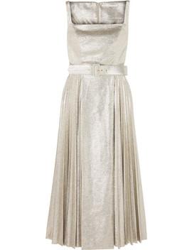 Ingrid Pleated Metallic Coated Jersey Dress by Emilia Wickstead