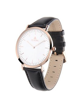 aurora-womens-metal-retro-casual-round-dial-quartz-analog-wrist-watch-with-leather-band by aurora-watch
