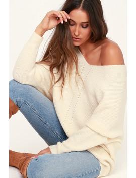 Emerson Cream Dolman Sleeve Sweater by Lulus