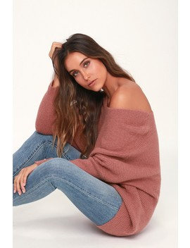 Emerson Mauve Dolman Sleeve Sweater by Lulus