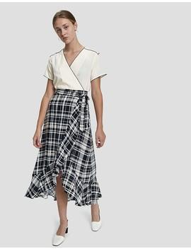 Shana Plaid Wrap Skirt by Farrow