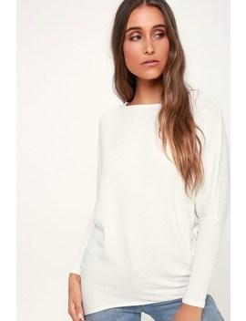Verla Ivory Dolman Sleeve Sweater Top by Lulus