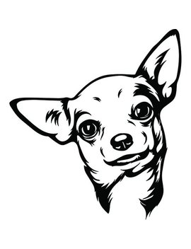 Chihuahua #12 Smiling Dog Puppy Breed K 9 Animal Pet Hound Lap Teacup Mexican Design Logo .Svg .Eps .Png Clipart Vector Cricut Cut Cutting by Etsy