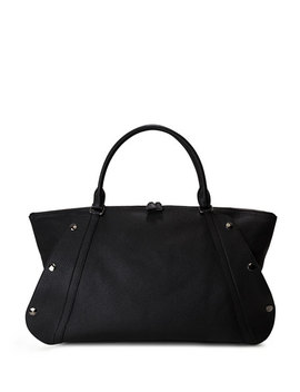 Aimee Medium Leather Satchel Bag by Akris