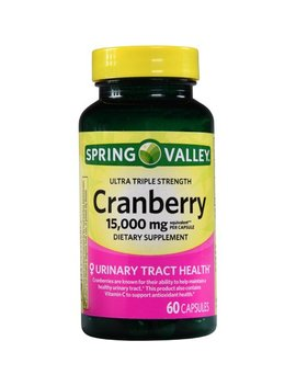 Spring Valley Cranberry Extract Capsules, 15000 Mg, 60 Ct by Spring Valley