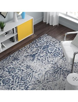 The Twillery Co. Orourke Ivory/Navy Area Rug & Reviews by The Twillery Co.