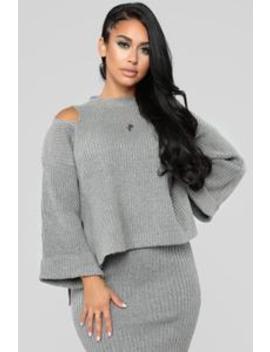 Cold Babe Set   Grey by Fashion Nova