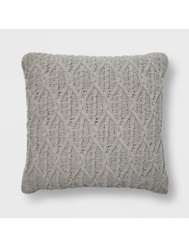 Diamond Knit Chenille Oversized Square Throw Pillow   Threshold™ by Shop This Collection