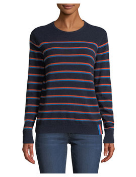 The Samara Striped Cashmere Sweater by Kule