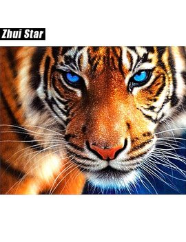 "Full Square Diamond 5 D Diy Diamond Painting ""Tiger"" Embroidery Cross Stitch Rhinestone Mosaic Painting Decor Gift by Zhui Star"
