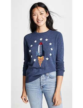 Queen Rocket Intarsia Cashmere Sweater by Autumn Cashmere