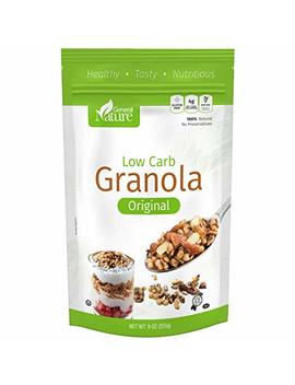 Low Carb Granola Cereal, Gluten Free, Sugar Free, 4g Net Carbs, No Sugar Added, Non Gmo, No Artificial Sweeteners,  Percents100 Natural, No Preservatives, Kosher by General Nature