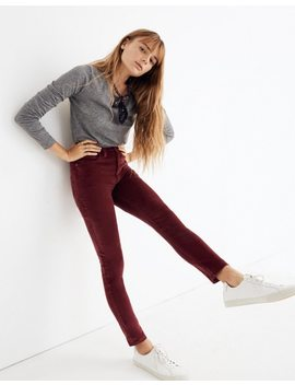 "Tall 10"" High Rise Skinny Jeans: Velveteen Edition by Madewell"