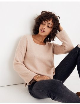 Square Neck Pullover Sweater In Coziest Yarn by Madewell