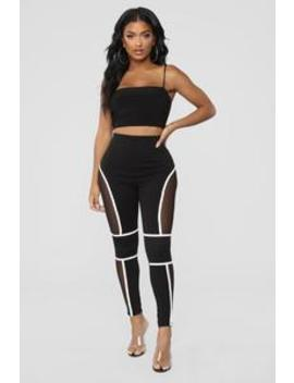 Give Me A Running Start Leggings   Black/White by Fashion Nova