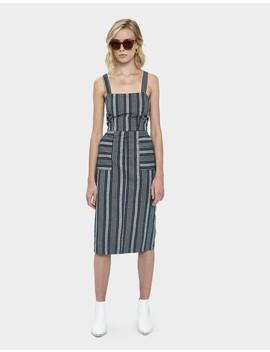 Avie Stripe Woven Dress by Stelen