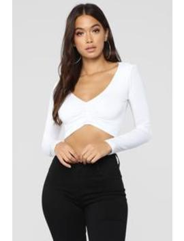 Tired Of No Shows Top   White by Fashion Nova