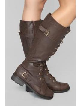 Keep Dreaming Boy Flat Boot   Brown by Fashion Nova